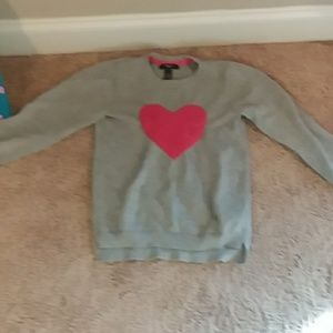 Girls gray shirt that has  red heart in it size M